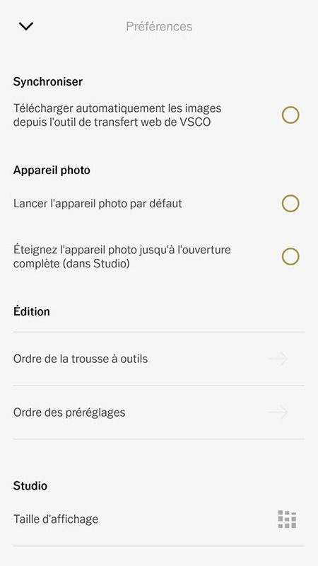 Application photo VSCO prise en main