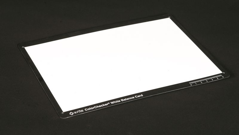 x-rite white balance card test review