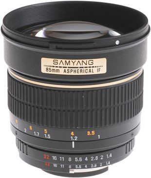 Samyang 85 mm f/1,4 test review