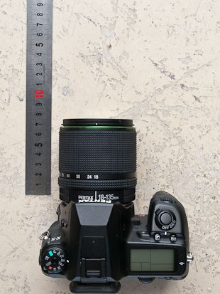 Pentax 18-135 mm test review dimensions grand-angle