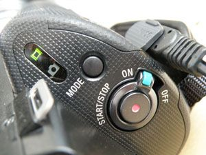 Sony NEX-VG10 test review interface