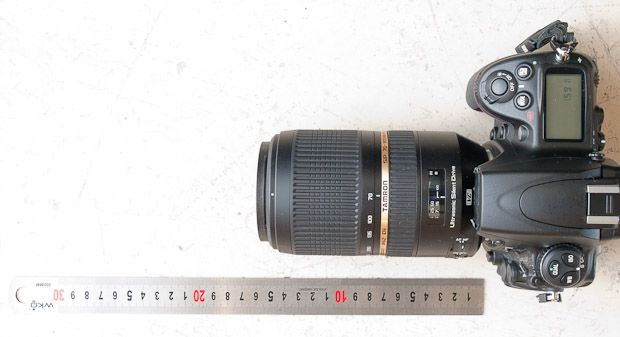 Tamron 70-300 mm f/4-5,6 VC USD test review taille