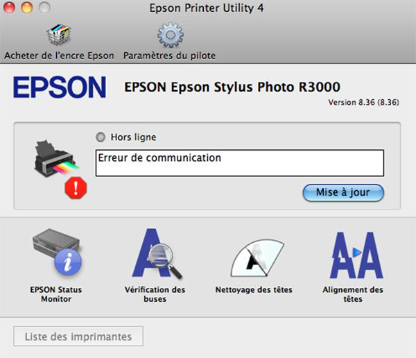 Epson R3000 test review avis pilote d'impression