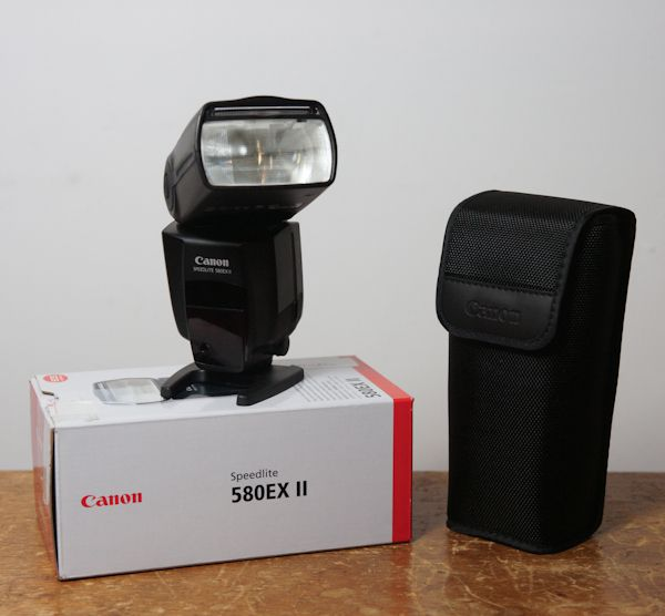 Canon Speedlite 580 EX II test review danas la boîte