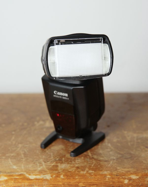 Canon Speedlite 580 EX II test review diffuseur