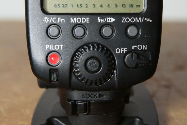Canon Speedlite 580 EX II test review interface