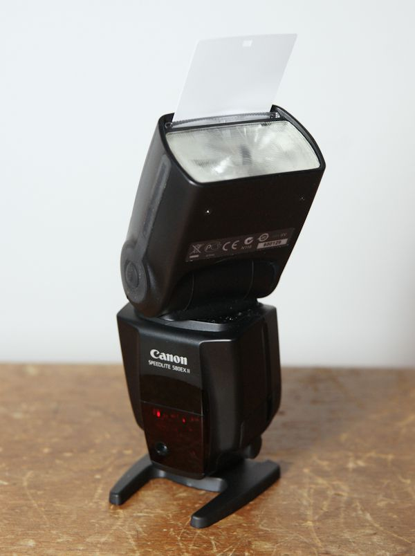 Canon Speedlite 580 EX II test review reflecteur