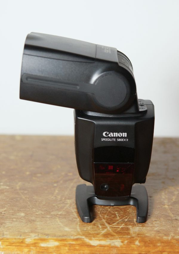 Canon Speedlite 580 EX II test review orientation tête