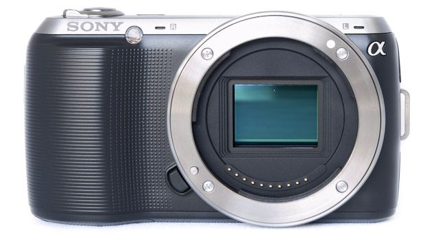 Sony NEX-C test review vue face capteur