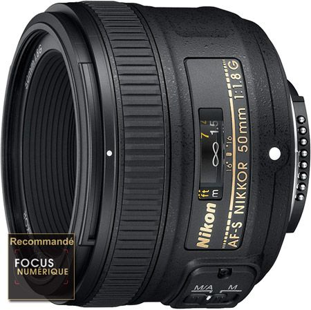 Nikon Nikkor 50 mm f/1,8G test review recommandé