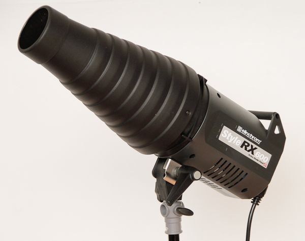 Elinchrom style rx600 test review torche équipée d'un snoot