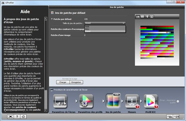 X-Rite i1 Display Pro test logiciel i1 Profiler jeu de patch