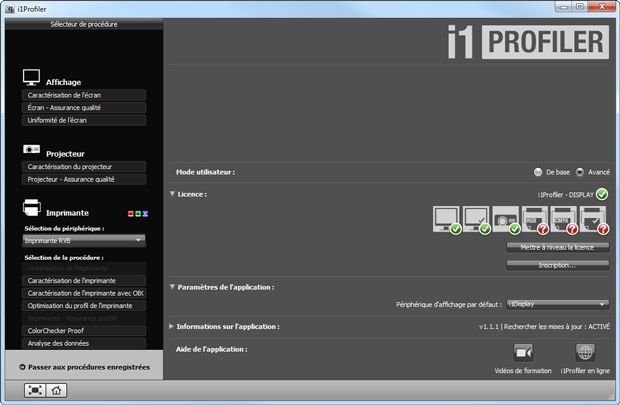 X-Rite i1 Display Pro test logiciel i1 Profiler