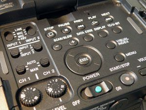 Sony FS100 test review avis détail commandes