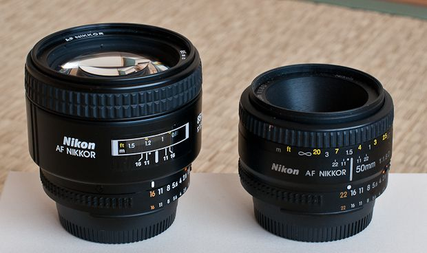 Nikkor 85 mm f/1,8D test review comparaison 50 mm f/1,8D