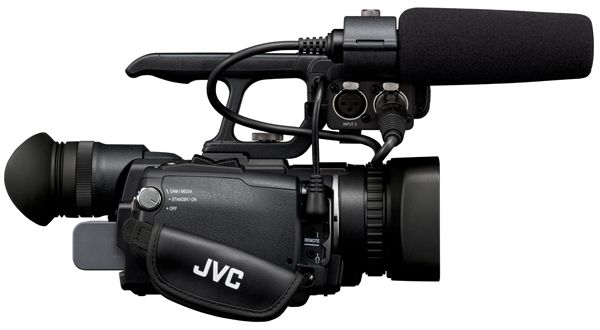 JVC HM150 vue de côté test review