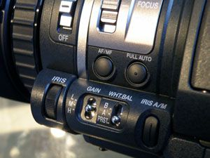 JVC HM150 test review détail commandes