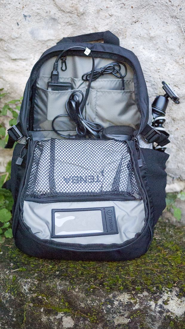 Tenba Discovery Medium test review sac ouvert