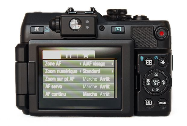 Canon G1 X test review avis prise en mains interface