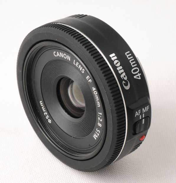 Canon EF 40 mm STM test review devant