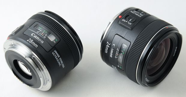 Canon EF 24 et 28 mm f/2,8 USM IS