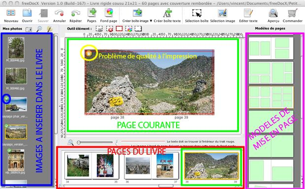 Test livre album photo e-Center 21x21cm logiciel