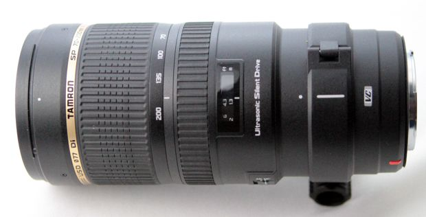 Tamron SP 70-200 mm f/2,8 Di VC USD test review vue de dessus