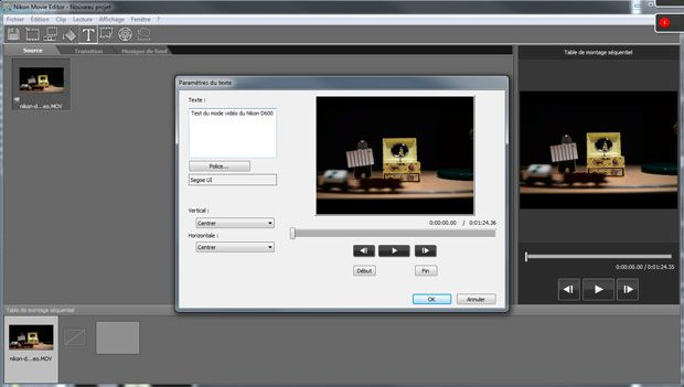 Nikon D600 logiciel short Movie Creator