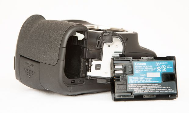 Canon 6D batterie test review