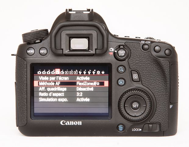 Canon 6D vue de dos test review prise en mains