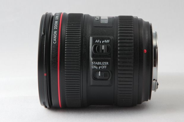 Canon EF L 24-70 mm f/4 IS USM test review les commandes