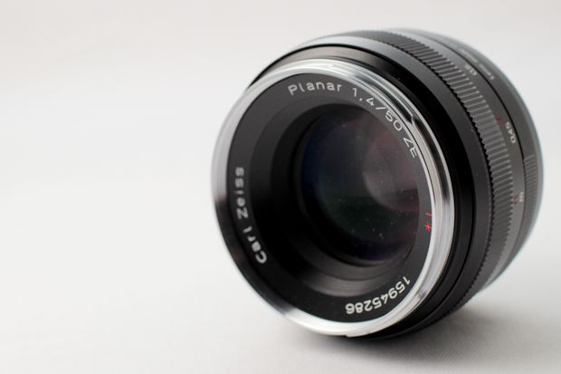 Carl Zeiss Planar 50 mm f/1,4 ZE test review vue avant