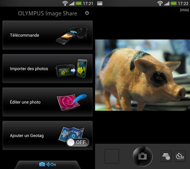 Olympus Pen E-P5 test review interface wifi smartphone