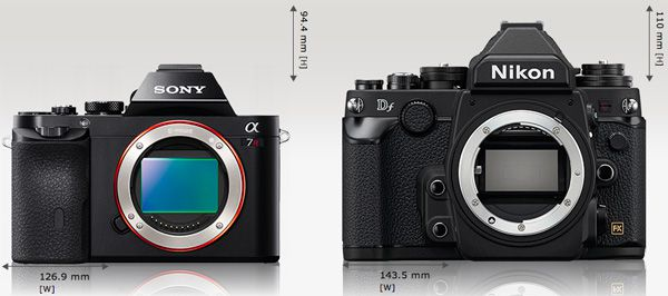 Sony A7R vs Nikon Df