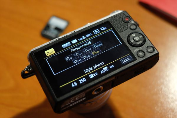 Panasonic GM1 test review : interface graphique