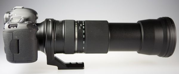 Tamron SP 150-600 mm f/5-6,3 Di VC USD, vue de profil