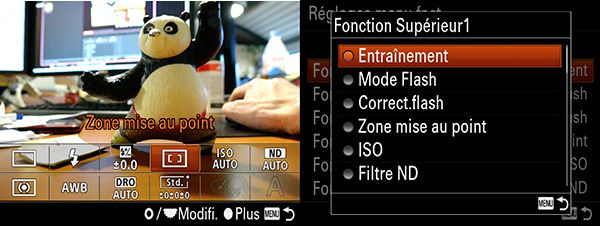 Sony RX10 test review interface graphique menu Fn