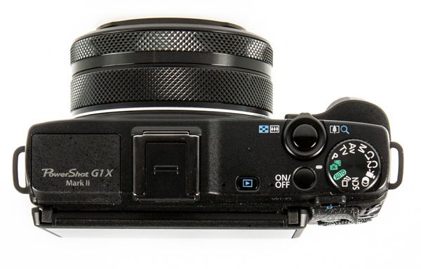 Canon G1X Mark II test review vue de dessus