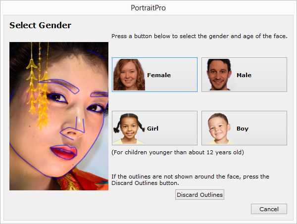 PortraitPro 12, prise en main, application du profil de base