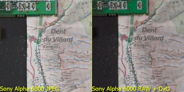 Sony Alpha 6000 test review JPEG vs RAW