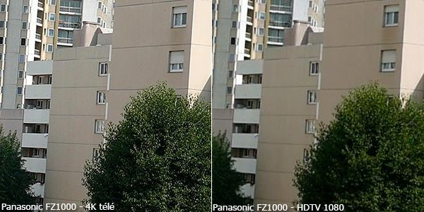 Panasonic FZ1000 4K vs HDTV 1080