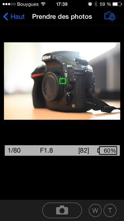 Nikon D750 application mobile