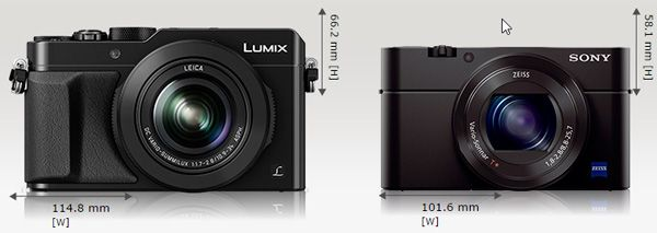 Panasonic LX100 vs RX100 mark III