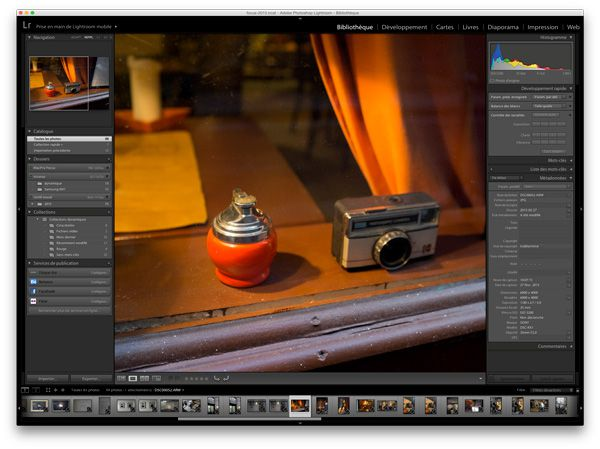 Adobe Lightroom 5avec le Samsung NX1