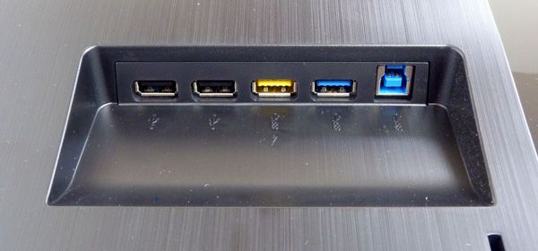 AOC U3477PQU, test review, ports USB 2.0 et 3.0