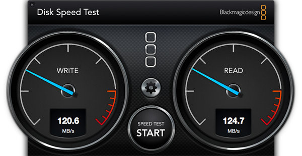Disc Speed Test de Blackmagic Design