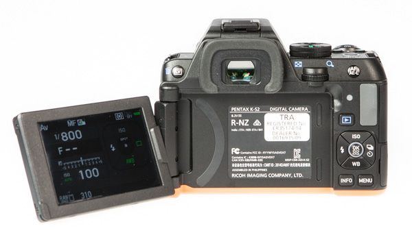 Pentax K-s2 test review écran orientable