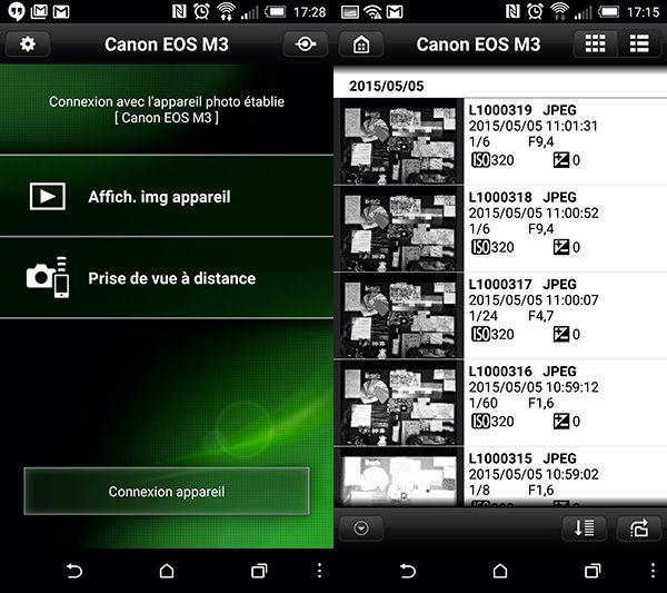 Canon EOS M3 test review EOS Remote