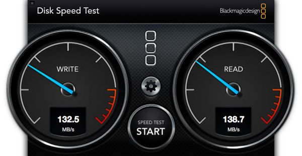 Disk Speed Test - G-Drive ev RaW thunderbolt