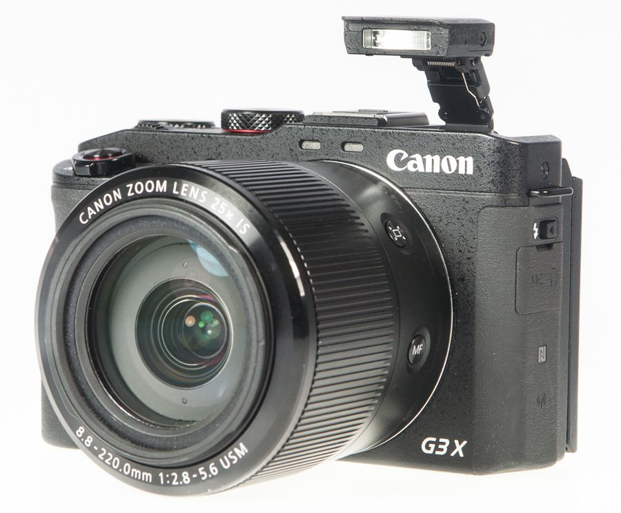 Canon G3X test review flash